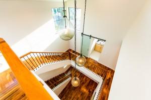 Three story foyer